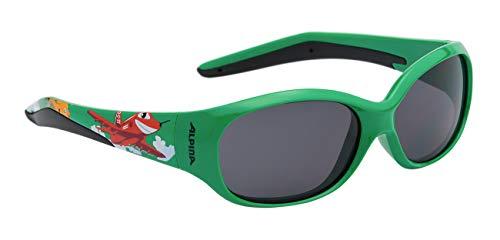 ALPINA FLEXXY KIDS Sportbrille, Kinder, green plane, one size