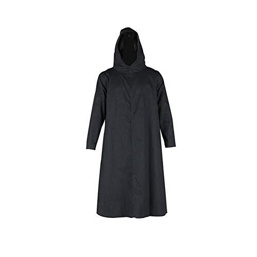 Ilovcomic Men's Naruto Cosplay Anbu Uniform 2nd Costume Black Long Robe Size Small