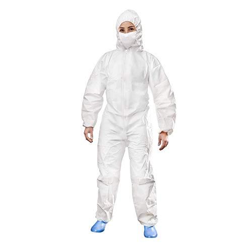 KALLPA Monos de protección (Pack de 5) - Polipropileno, plastificado, Buzo de Trabajo Tipo I (Talla L)