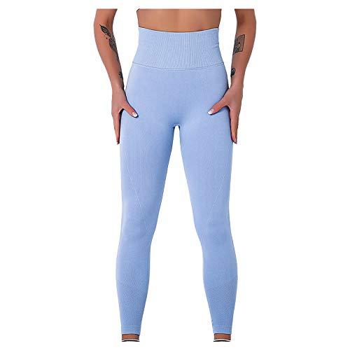 Leggins Push Up Sexy Transpirables Color sólido Pantalones Deportivos Yoga Fitness Cintura Media Mallas De Deporte De Mujer para Reducir Vientre
