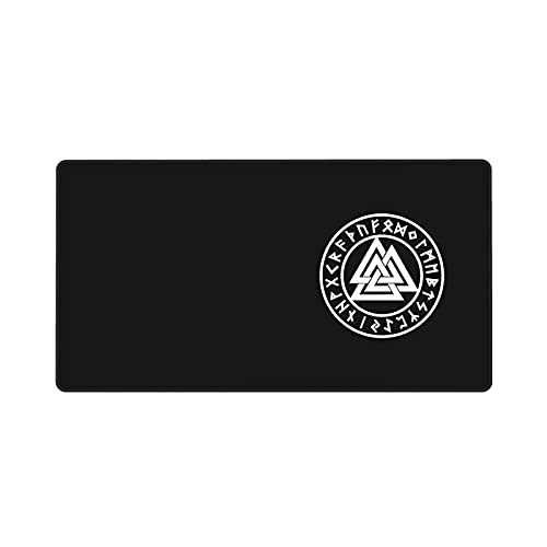 Valknut The Symbol of Odin Large Gaming Mouse Pad 15.8x29.5 in, Ultra-Thick, Soft and Waterproof, Specially Designed for Gamers