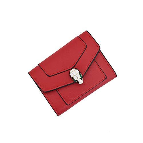 Mode Effen Kleur Dames Portemonnee Korte vouwen Kleine Portemonnee Koppelingstas Multi-Card Positie portemonnee