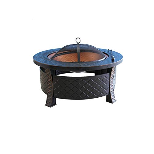 SMQHH Outdoor Fire Tables,Charcoal Barbecues Fire Pit Bowl Barbecue Grill Charcoal Outdoor Camp Carbon Stove Heating Brazier Home Barbecue Table