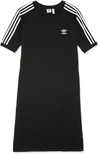 adidas Damen 3-Stripes Kleid, schwarz (Black), 32