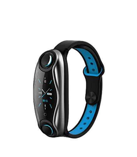 N\C Pulsera Inteligente Doble Auricular Bluetooth Combo Deportes Bluetooth Pulsera de Llamada frecuencia cardíaca presión Arterial Pulsera Inteligente