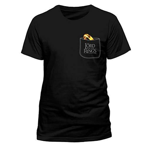 Herr der Ringe Herren T-Shirt Der Eine Ring Pocket Baumwolle schwarz - XXL