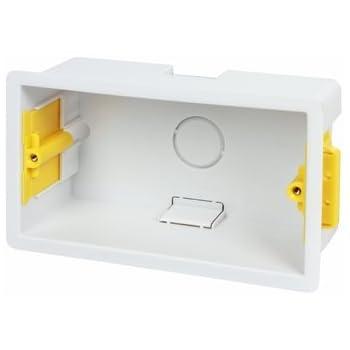 Appleby plástico doble pared pladur caja portamecanismos empotrable: Amazon.es: Iluminación