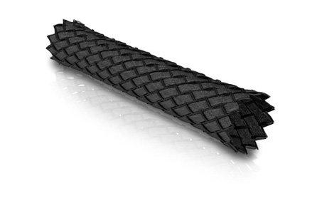 VIABLUE Sleeves * Geflechtschlauch * Black/SCHWARZ * Größe SMALL für Kabel-Ø von 2 bis 6 mm * Meterware * Gewebeschlauch/Kabelschutzhülle/Kabelschlauch * per m