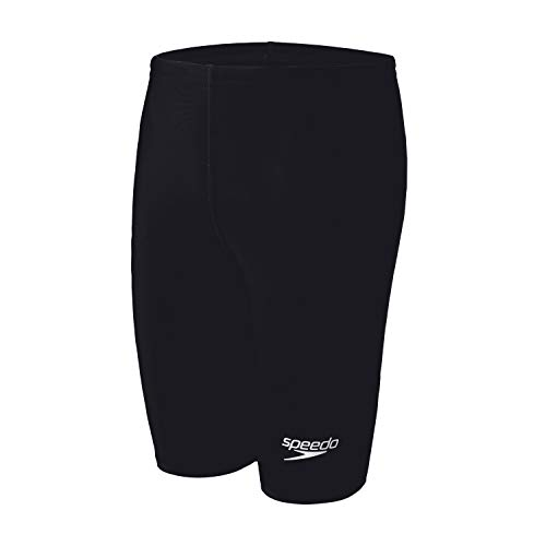 Speedo Boy's Swimsuit Jammer PowerFlex Eco Solid Youth New Black, 26