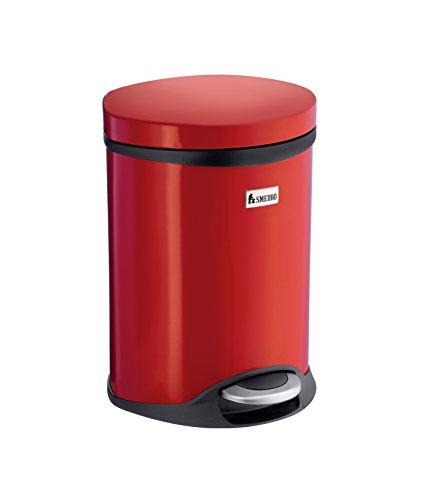 Smedbo OUTLINE LITE Kosmetikeimer 6 L rot aus Edelstahl mit Softclose