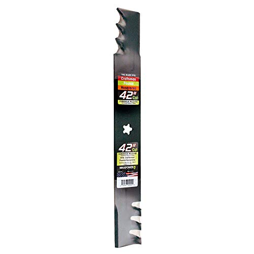 """MaxPower 331713XB Heavy Duty Commercial Mulching Blade for 42"""" Craftsman/Husqvarna/Poulan, Replaces 134149, 138971, 138498, 127843, PP24003"""