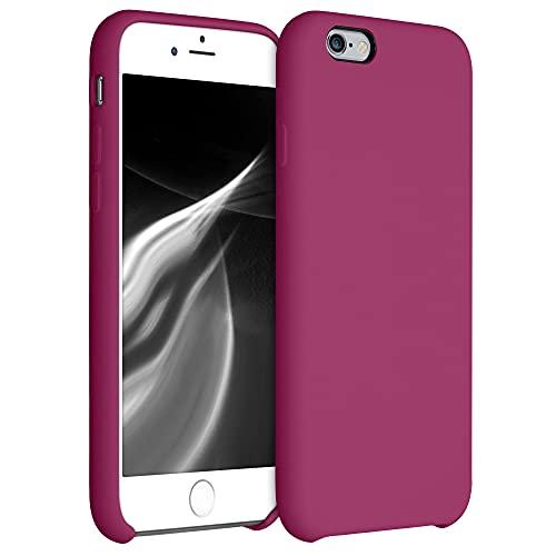 kwmobile Custodia Compatibile con Apple iPhone 6 / 6S - Cover in Silicone TPU - Back Case per Smartphone - Protezione Gommata Rosso Lampone