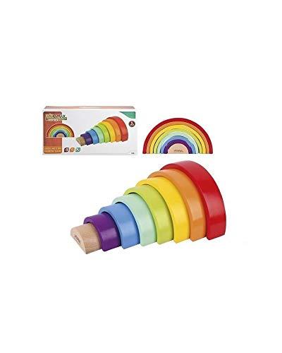 WOOMAX WOOMAX-46479 46479 Arc-en-Ciel en Bois, Multicolore (Couleurs Parchis)