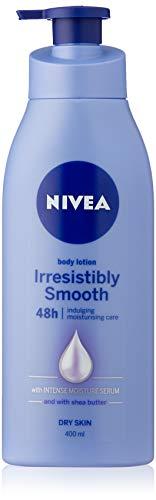 NIVEA Irresistibly Smooth Moisturising Body Lotion (400ml), Body Moisturiser with Shea Butter & Intense Moisture Serum for Dry Skin