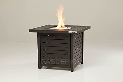 REALGLOW Slatted Table Gas Fire Pit 13KW