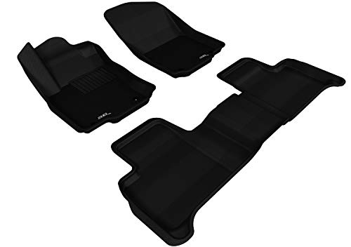 3D MAXpider Complete Set Custom Fit All-Weather Floor Mat for Select Mercedes-Benz GLE-Class/ ML-Class Models - Kagu Rubber (Black)