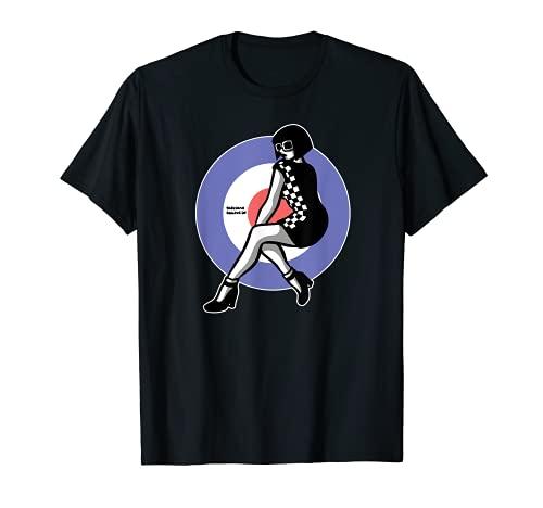 1960\'s Mod Northern Soul - Two-Tone Ska Girl / Scooter Girl T-Shirt