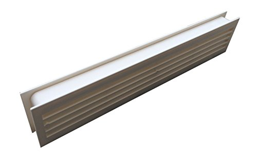 Kunststoff Türlüfter Lüftungsgitter Tür Cremeweiss 434 x 76mm