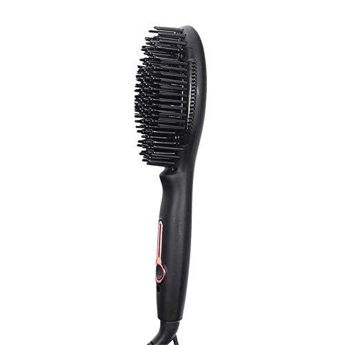 Professionnel et de haute qualité Brosses à cheveu Vapeur professionnel Lisseur Brosse Mini négatif Ions Peigne Tourmaline Nano Céramique électrique Cheveux raides Brosse-Noir (Color : Black)
