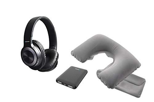 Blaupunkt BLP1730 Reiseset mit Kissen Power Bank und Kopfhörer Bluetooth, 5000 mAh, Freisprecheinrichtung