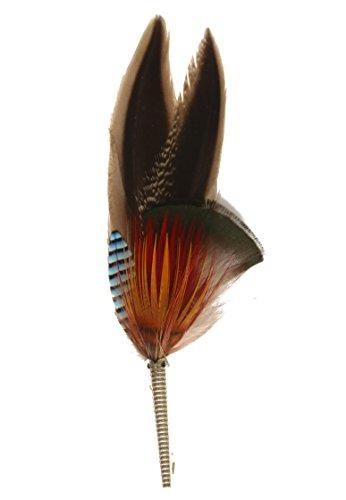 Echte Hutfeder   Hutanstecker – von Ente, Fasan, Eichelhäher - Handgemacht - Accessoir für den Trachtenhut – Inkl. Hülse – 11 x 3 cm