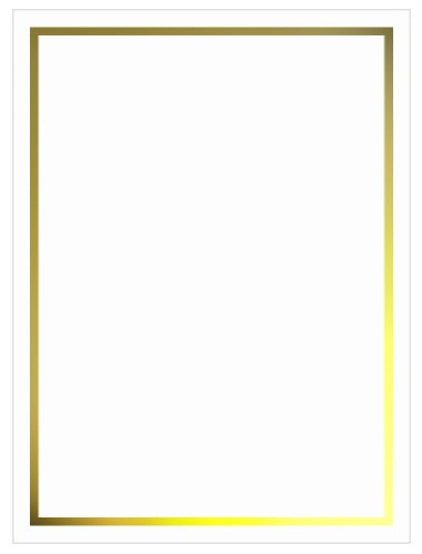 Gold Foil Invitation, Flat Card 5x7, Radiant White Cardstock, 80lb, 50 Pack