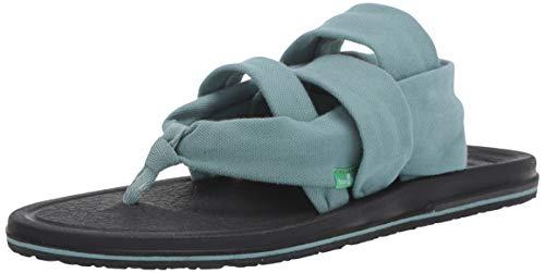 Sanuk Damen Yoga Sling 3 Flache Sandale, Mineral Blue, 36 EU