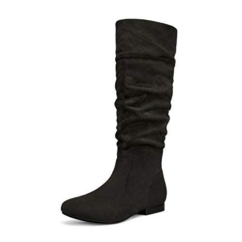 DREAM PAIRS Women's BLVD Black Knee High Pull On Fall Weather Boots Size 9.5 M US