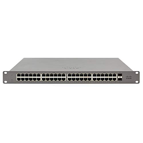 Meraki Go by Cisco | 48 Port PoE Network Switch | Cloud Managed | Power over Ethernet | [GS110-48P-HW-US]