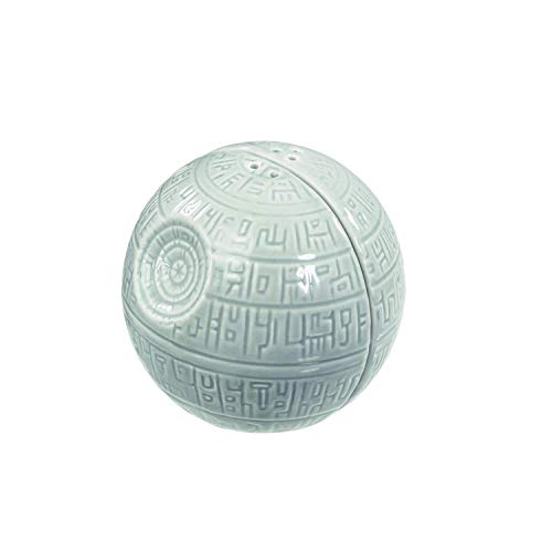 Funko SW00200 Star Wars Salt and Pepper Shakers: Death Star, Ceramic, Grey, 7.9 x 7.6 x 7.6 cm