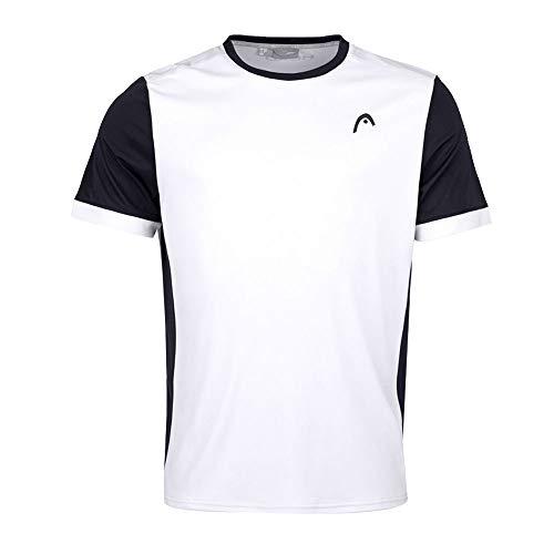 HEAD Mens Davies T-Shirt, White/Black, M