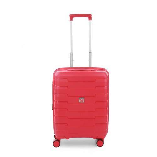 Roncato Skyline Maleta Cabina avión Expansible Rojo, Medida: 55 x 40 x 20/25 cm, Capacidad: 41/47 l, Pesas: 2.6 kg, Maleta Cabina avión ryanair