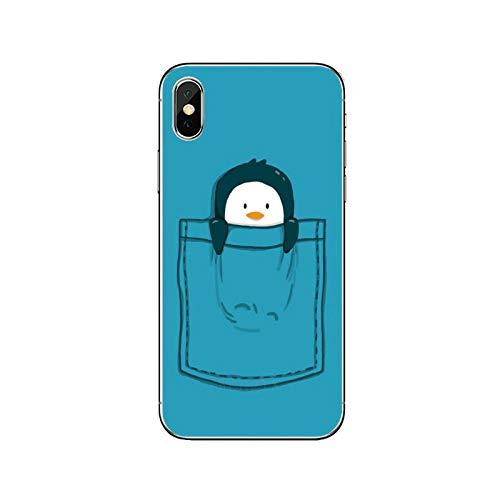 Süße schöne Pinguin-Schutzhülle für Samsung Galaxy A71 A70 A60 A51 A50 A41 A40 A31 A30 A20E A21S A12 A10 A7 A5 A3-Lovely-Pinguin-E-04-For Galaxy A5 2018
