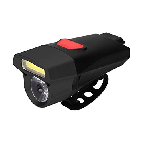 Queanly Fahrradlampe vor Kopf-Licht-Scheinwerfer-Lampe LED-Fahrradbeleuchtung for Bergstraße Citybikes Fahrräder gesetzt (Color : Schwarz Rot)