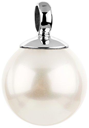 Nenalina Perlen Anhänger für Damen Kette oder Halskette in 925 Sterling Silber, 726099-046