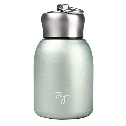 Thermoses Flask Water Bottle Vacuum Insulated Stainless Leak-Proof Drink Flask Mini keep Hot and Cold for Home Outdoors Travel (Green)
