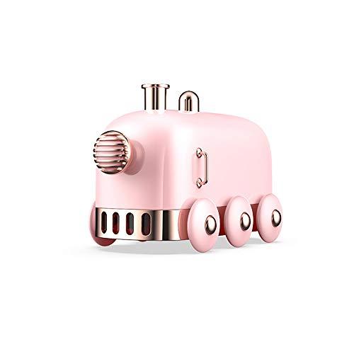 Mini humidificador portátil, 300 ml, humidificador pequeño tren, difusor de niebla fría para escritorio/oficina/dormitorio, ultra silencioso, función de luz LED, carga USB, apagado automático