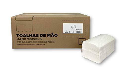 Fapajal Papercare Toalla Secamanos Zig-zag 23x21, Celulosa Virgen, 2 capas, 20 Paquetes de 200 Unidades