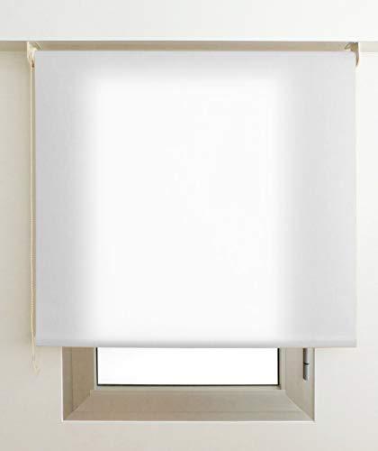 EB ESTORES BARATOS Estor Luminoso Elite (Desde 40 hasta 300cm de Ancho) Permite Paso de Mucha luz, no Permite Ver el Exterior/Interior. Color Blanco. Medida 140cm x 160cm para Ventanas y Puert