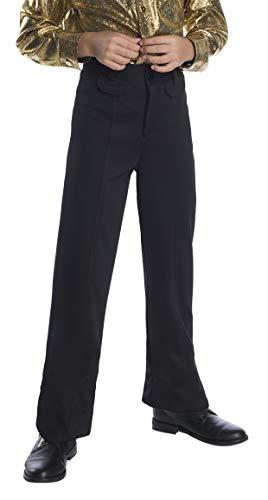 Charades Boy's Disco Pants Costume, Black, X-Small