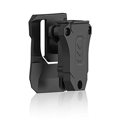 efluky Portacargador Solo Funda para Pistola Cargador Bolsa Universal Portacargador Doble para H&K USP FS/Compact 9mm/.40/Beretta/Golck 17 19/CZ 75/Walther P99/Sig Sauer p226, Paddle 360°Adjustabl