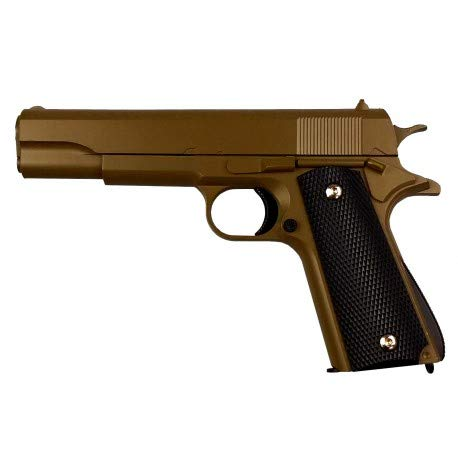 KOSxBO® Airsoft Pistole - Vollmetall Metallschlitten, FDE Kaliber 6 mm BB Ink. Premium BBS Munition - Soft Air unter <0,5J in Flat Dark Earth - ab 14 Jahren