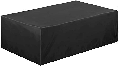 Furniture Set Covers 170x94x70cm, Rectangular Waterproof, Snow, Dust, WindProof, Anti-UV Patio Table Covers, for Cube Set, Patio, Outdoor Furniture Protector. - Black