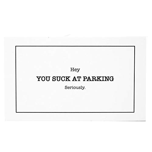 RXBC2011 You suck at Parking Cards Minimalist Style Bad Parking Card Gag Gift (Pack of 100) Photo #2