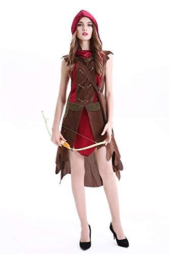 BCOGG 2018 nuevo disfraz de cardenal sexy Robin Hood de alta calidad cazadora Peter pan disfraces de Halloween sexy para mujer cosplay vestido de fiesta XL como se muestra