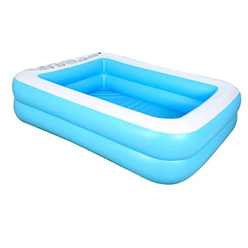 #N/A Durchscheinende Familie Rechteckiger aufblasbarer Pool Innenpool Aufblasbare Gartenbadewanne - 181x141x46cm 1-3 Player