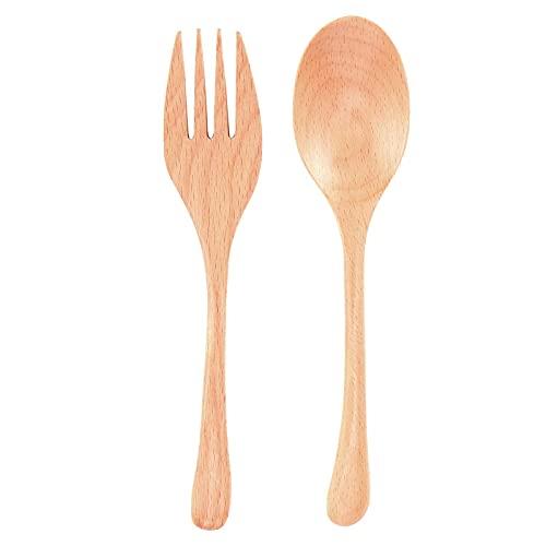 Juego de cuchara tenedor, cuchara de madera liviana para el hogar para la oficina para la escuela