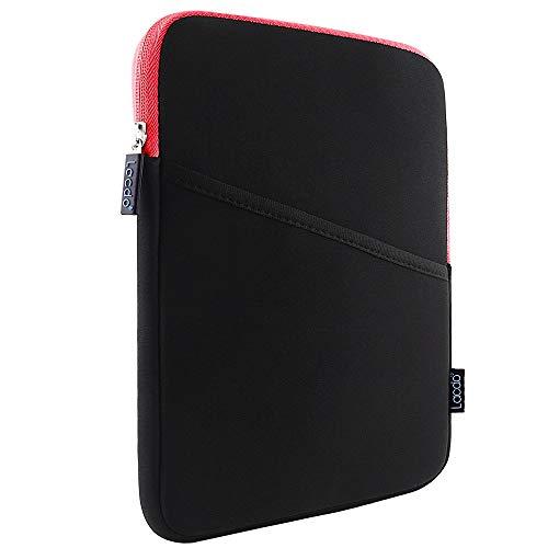 Lacdo iPad Mini Case, iPad Mini 5 Sleeve, Shockproof Tablet Sleeve Compatible iPad Mini 5,4,3,2 / Samsung Galaxy Tab A 8-Inch/ASUS ZenPad Protective Bag, Red/Black