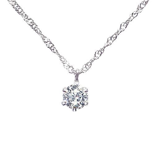 [京セラ] kyocera ダイヤモンド ネックレス 純プラチナ 0.3カラット 一粒 天然石