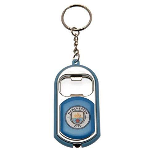 Manchester City Unisexe Lampe de Poche Décapsuleur Porte-clés, Multicolore